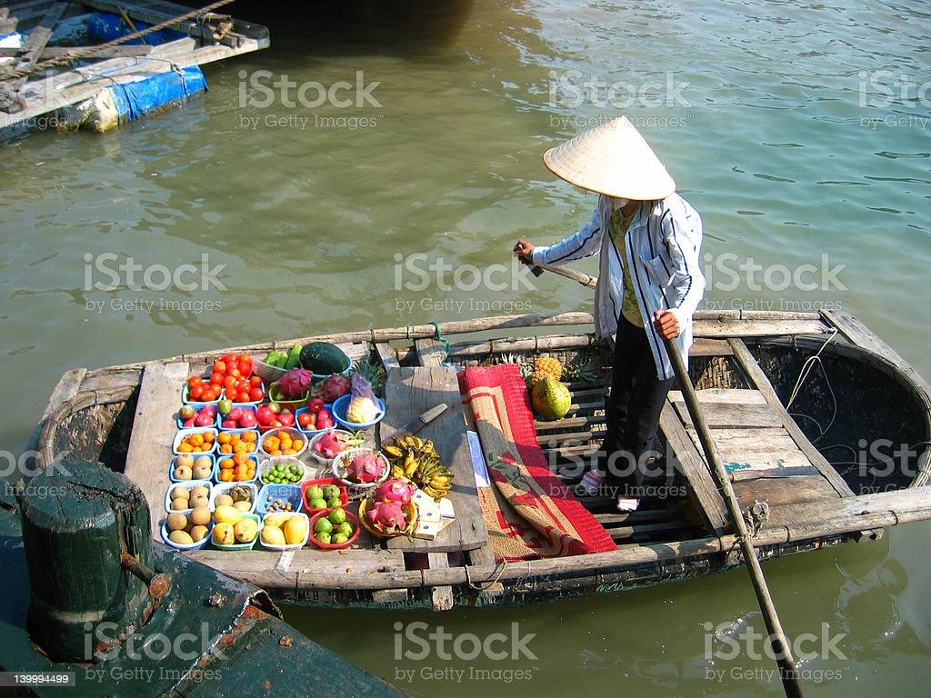 Vietnam floating market royalty-free stock photo