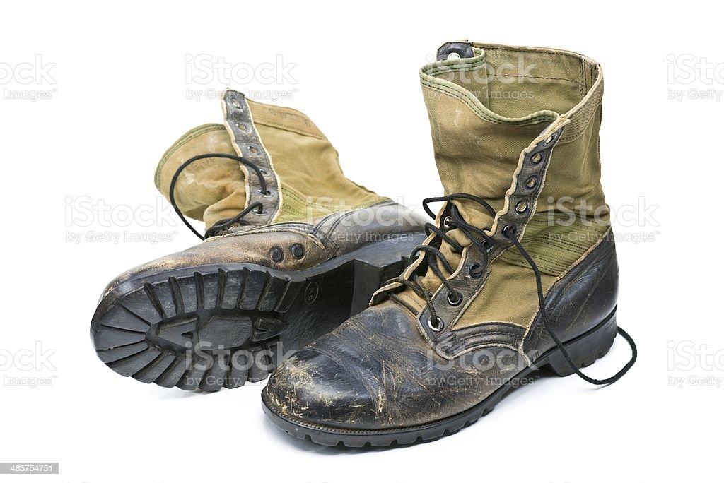 Vietnam Jungle Boots stock photo