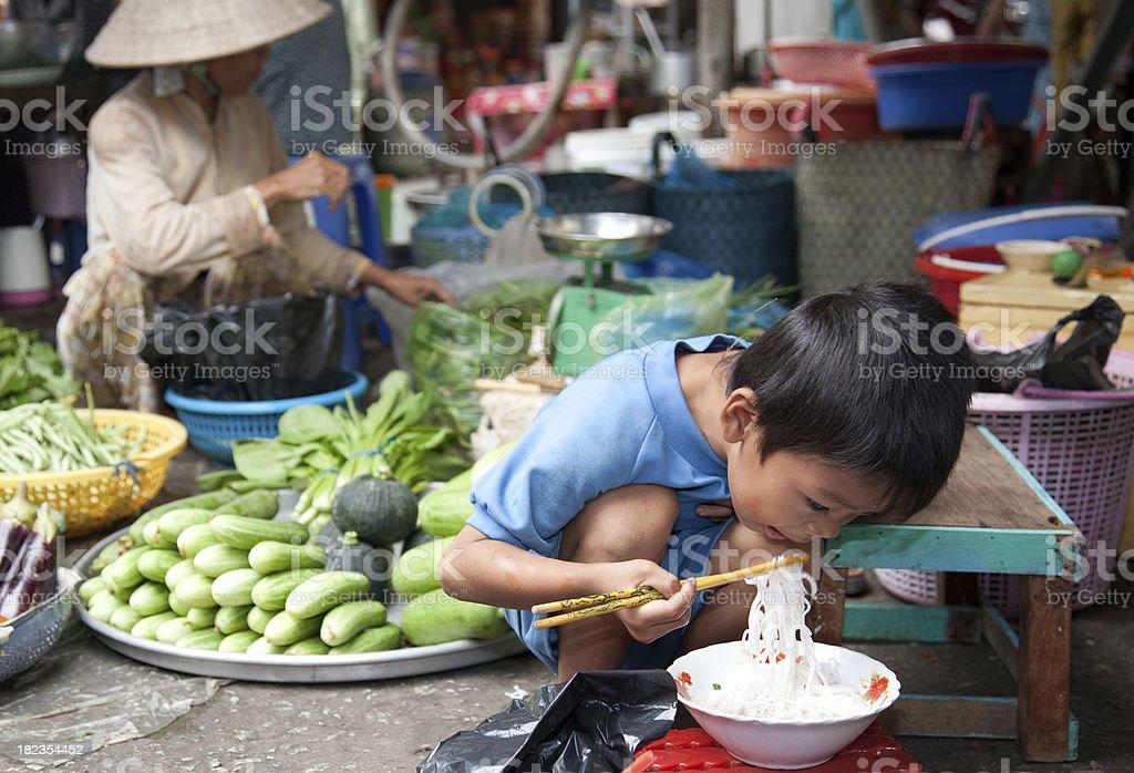 Vietnam, market, near Can Tho. stock photo
