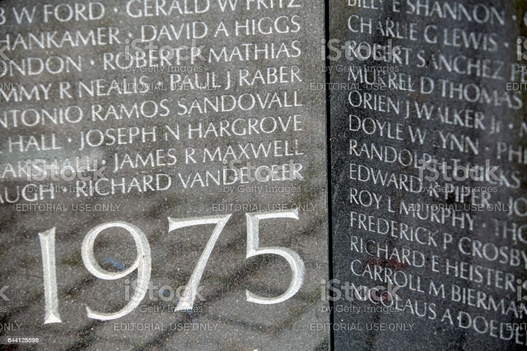 Vietnam Memorial on the Mall in Washington DC stock photo