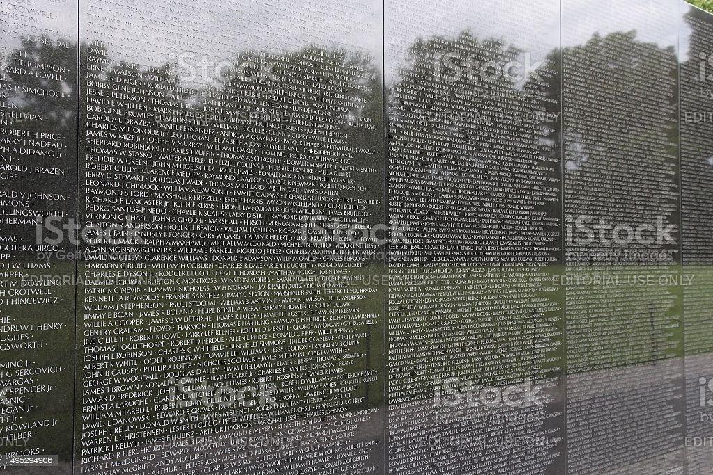 Vietnam Memorial stock photo