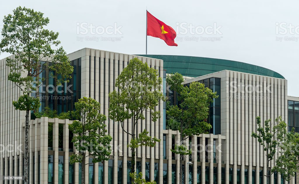 Vietnam National Assembly Building stock photo