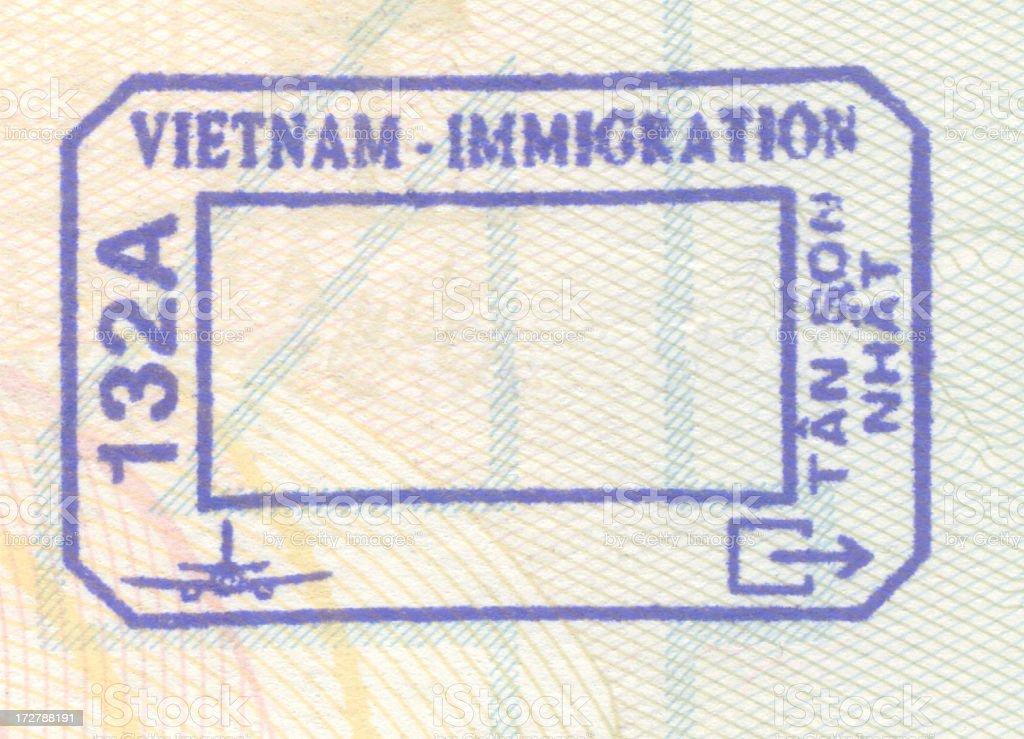 Vietnam Passport Stamp royalty-free stock photo