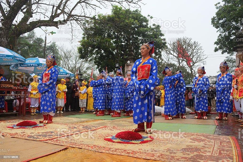 Vietnam people in festival stock photo