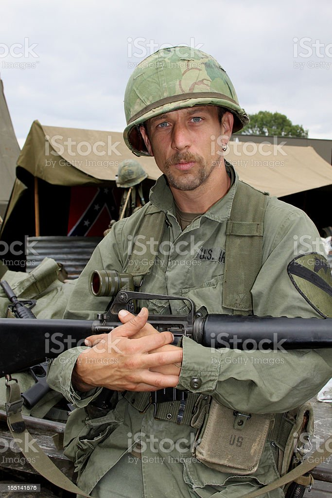 Vietnam Soldier. stock photo