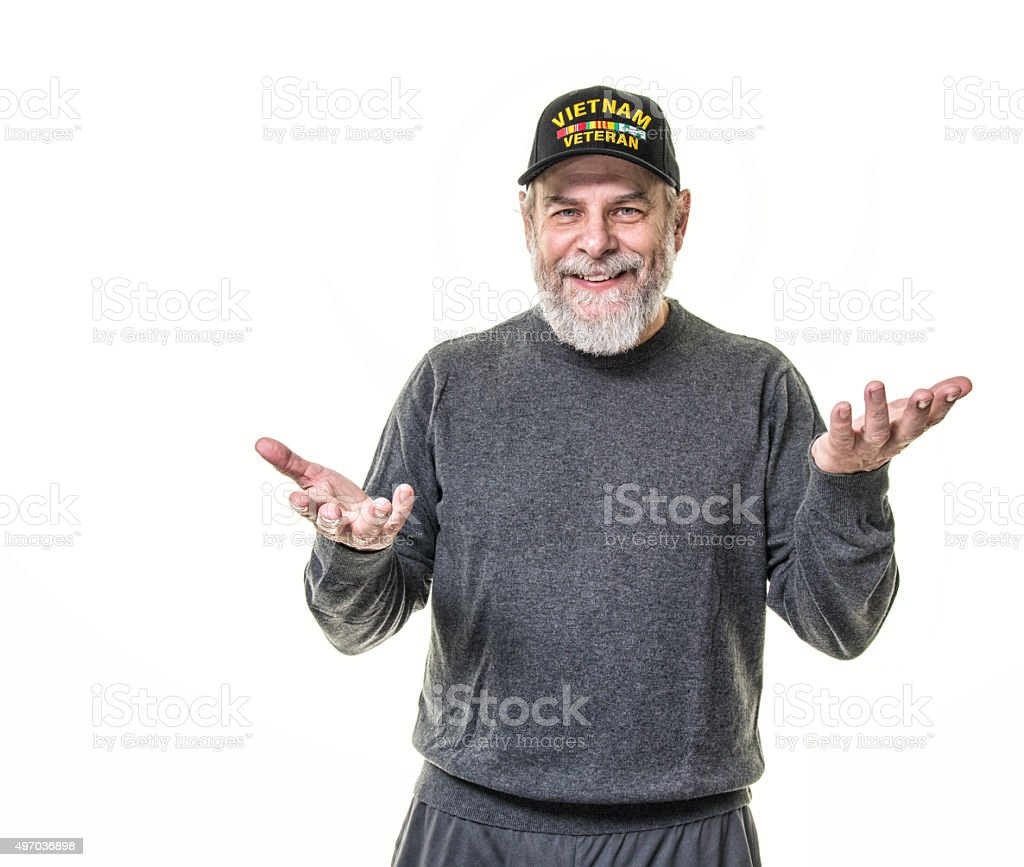 Vietnam USA Military Veteran With a Smile stock photo