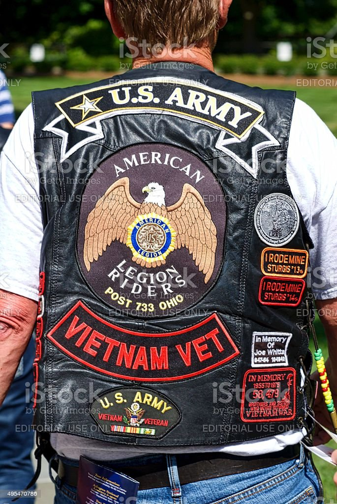Vietnam Veteran stock photo