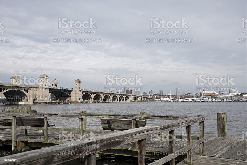 Vietnam Veterans Memorial Bridge to Baltimore stock photo