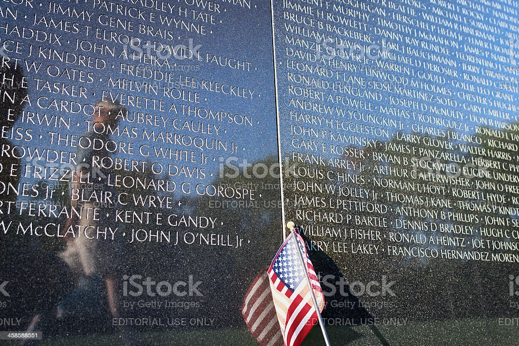 Vietnam Veterans Memorial stock photo