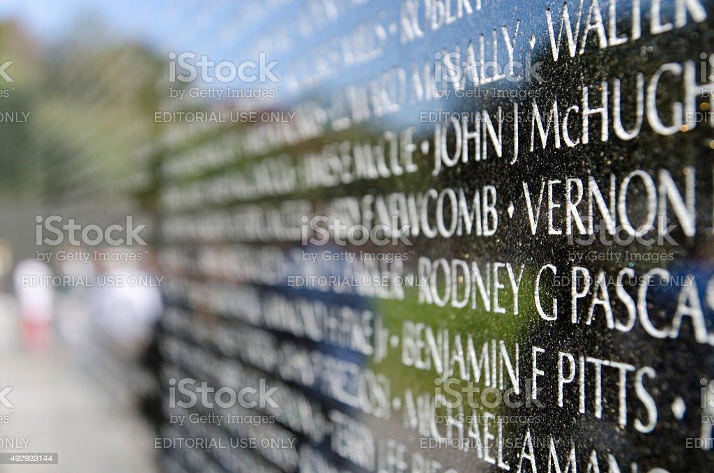 Vietnam Veterans Memorial stock photo