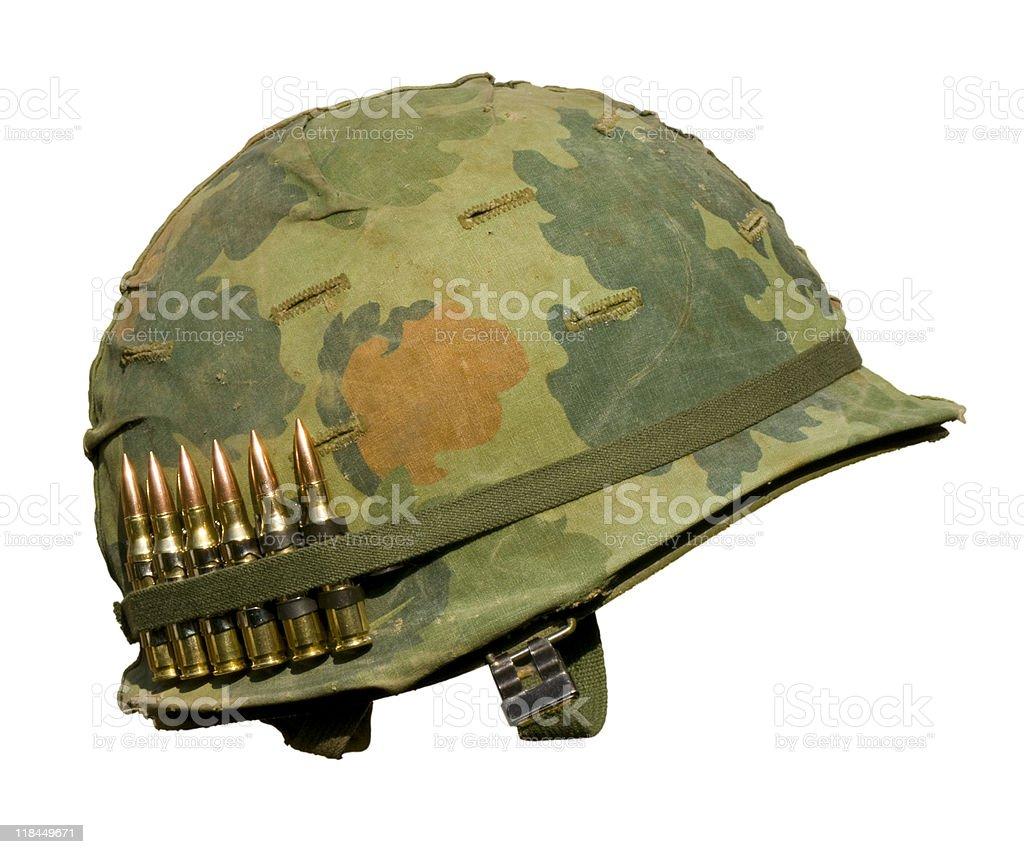 US Vietnam War Helmet stock photo