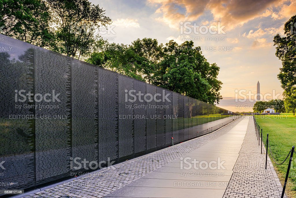Vietnam War Memorial in DC stock photo