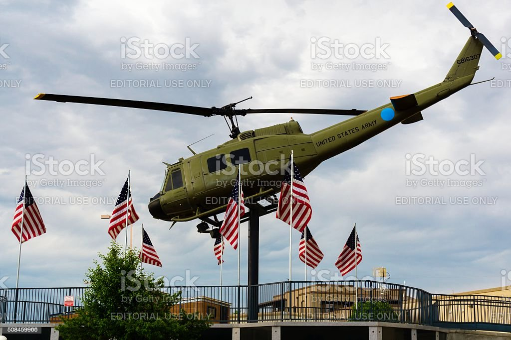 Vietnam War Memorial in Fruita, Colorado stock photo