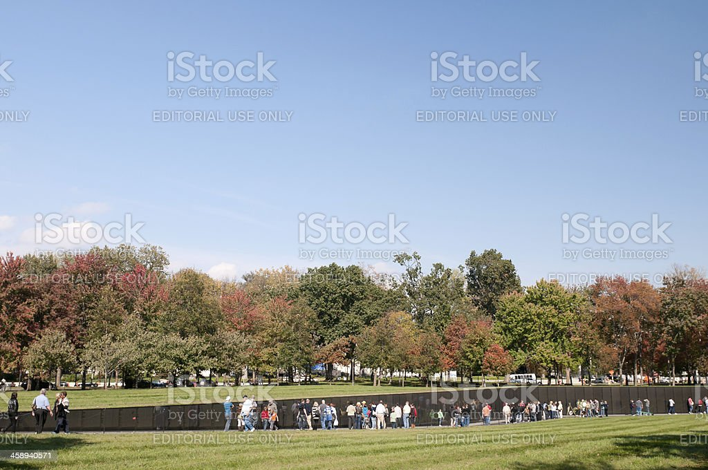 Vietnam War Memorial wall in Washingon, DC royalty-free stock photo