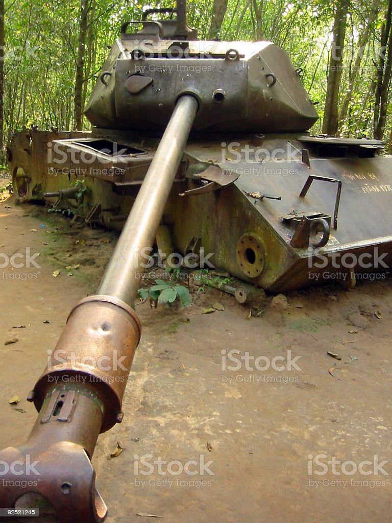 vietnam war tank shell royalty-free stock photo