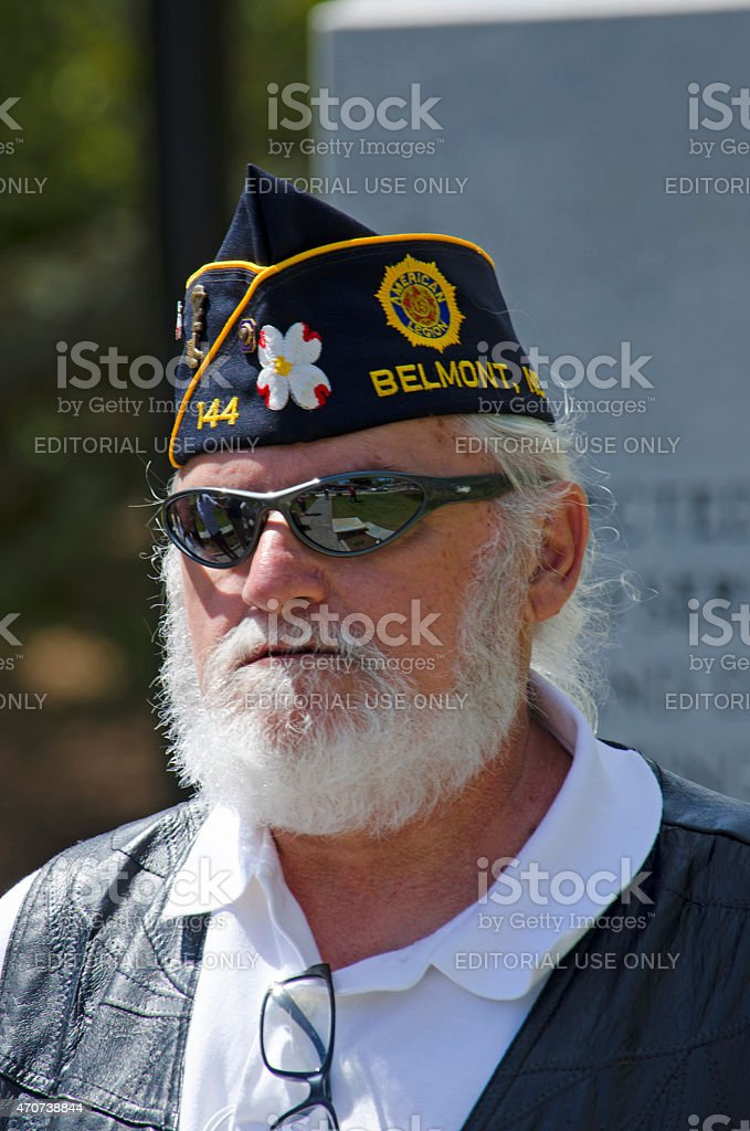 Vietnam War Veteran from American Legion Post 144 stock photo
