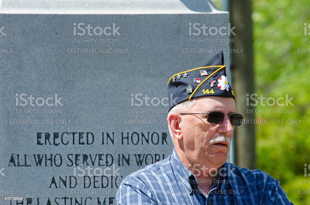 Vietnam War Veteran from Americn Legion Post 144 stock photo