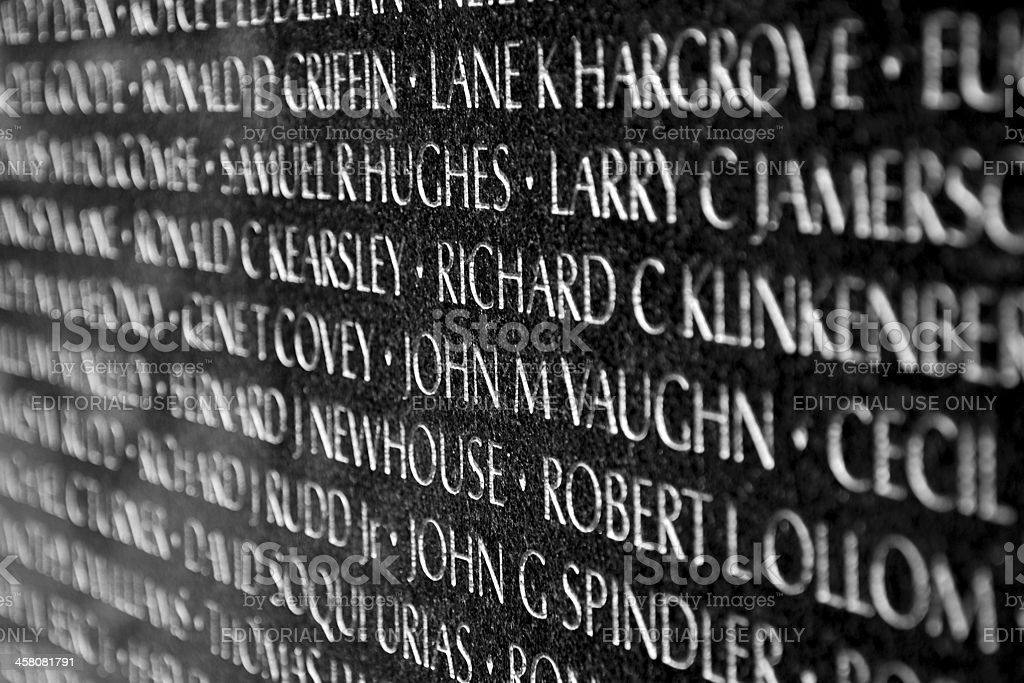 Vietnam War Veterans Memorial in Washington DC stock photo