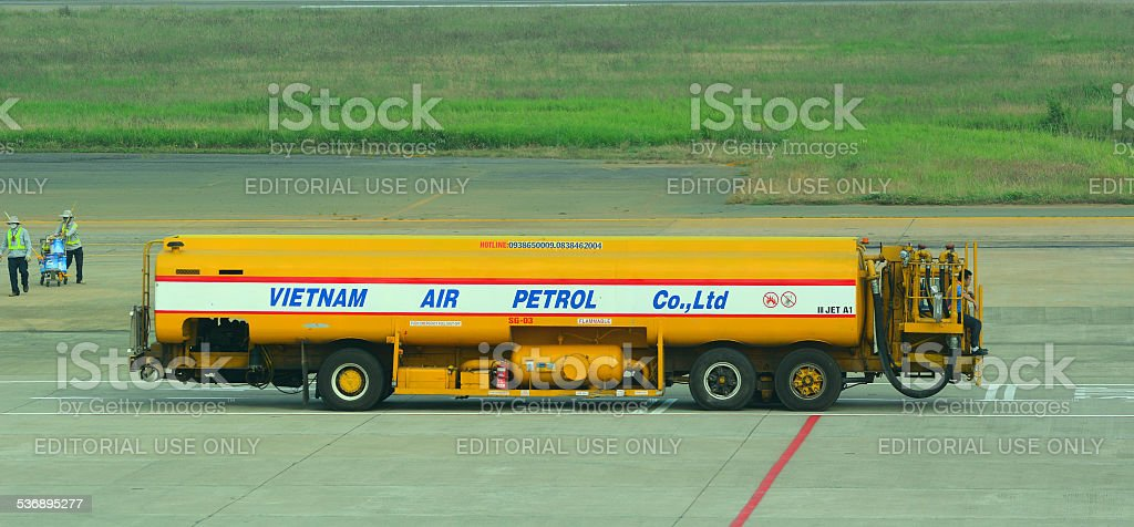 VietnamAirlines truck carring fuel stock photo