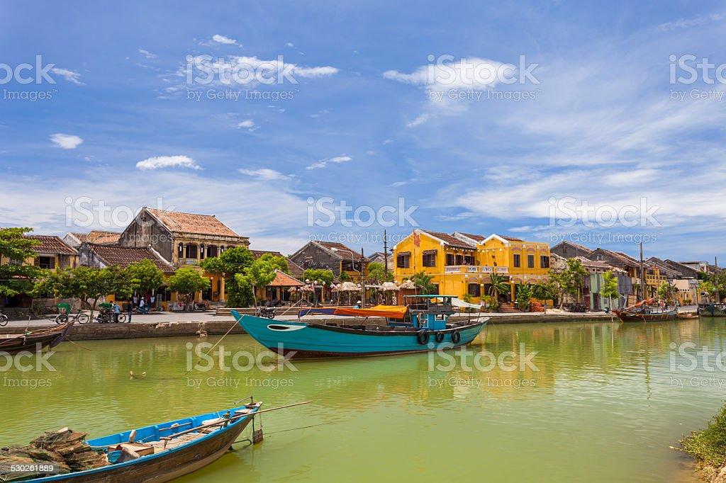 Vietnamese ancient city of Hoi An, Vietnam stock photo