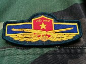 Vietnamese army patch on solder's uniform