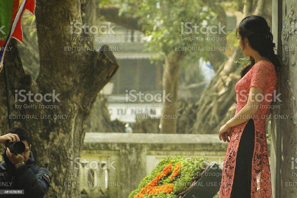 Vietnamese Beauty Being Photographed stock photo