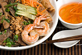 Vietnamese Beef and Shrimp Vermicelli Bowl