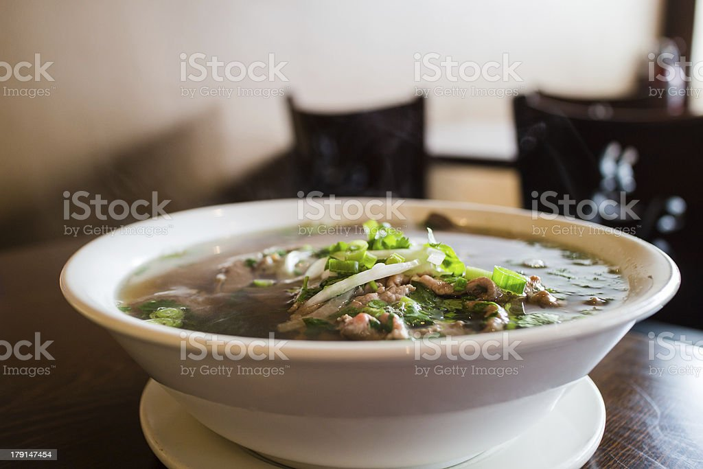 vietnamese beef noodle soup royalty-free stock photo