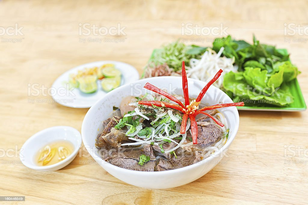 Vietnamese Beef noodles royalty-free stock photo