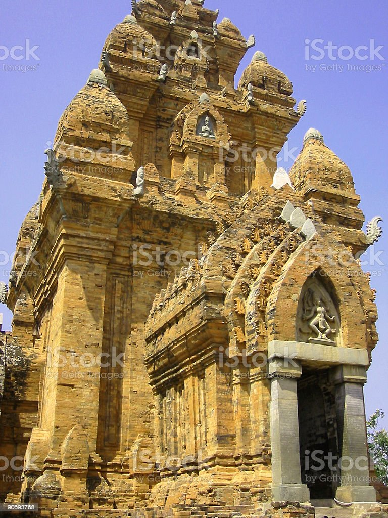 vietnamese cham tower royalty-free stock photo