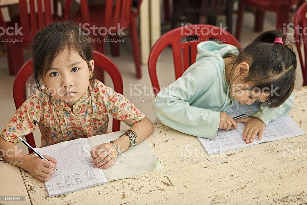 Vietnamese children in classroom royalty-free stock photo