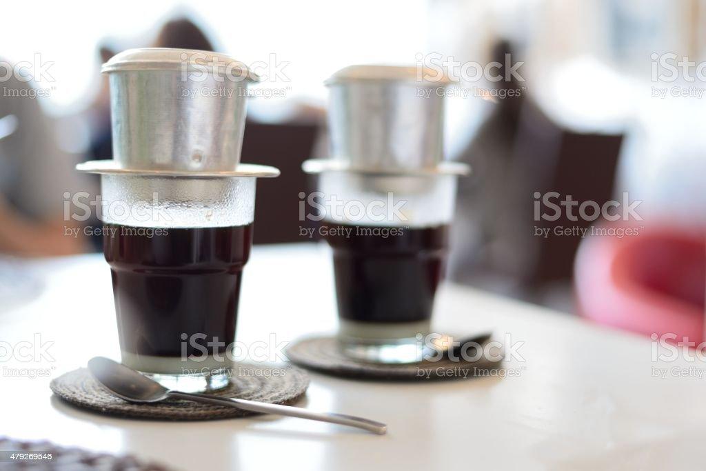 Vietnamese coffee stock photo
