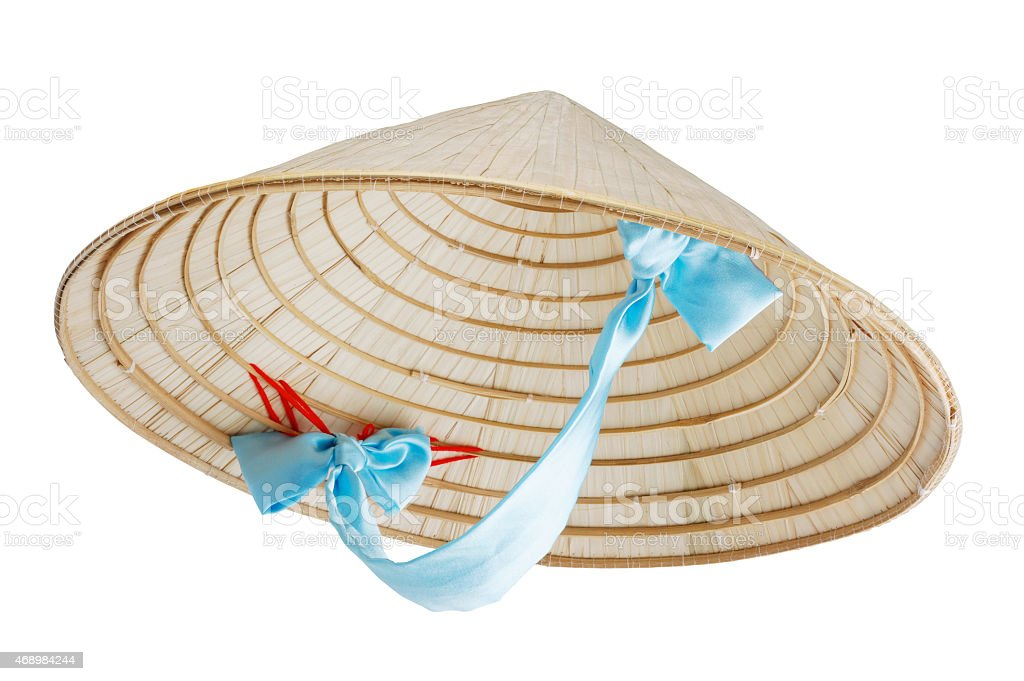 Vietnamese conical hat stock photo