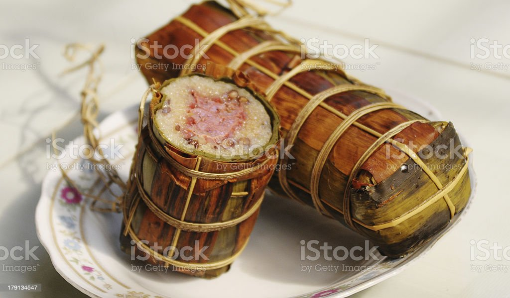 Vietnamese cuisine - Traditional cake for Tet holidays royalty-free stock photo