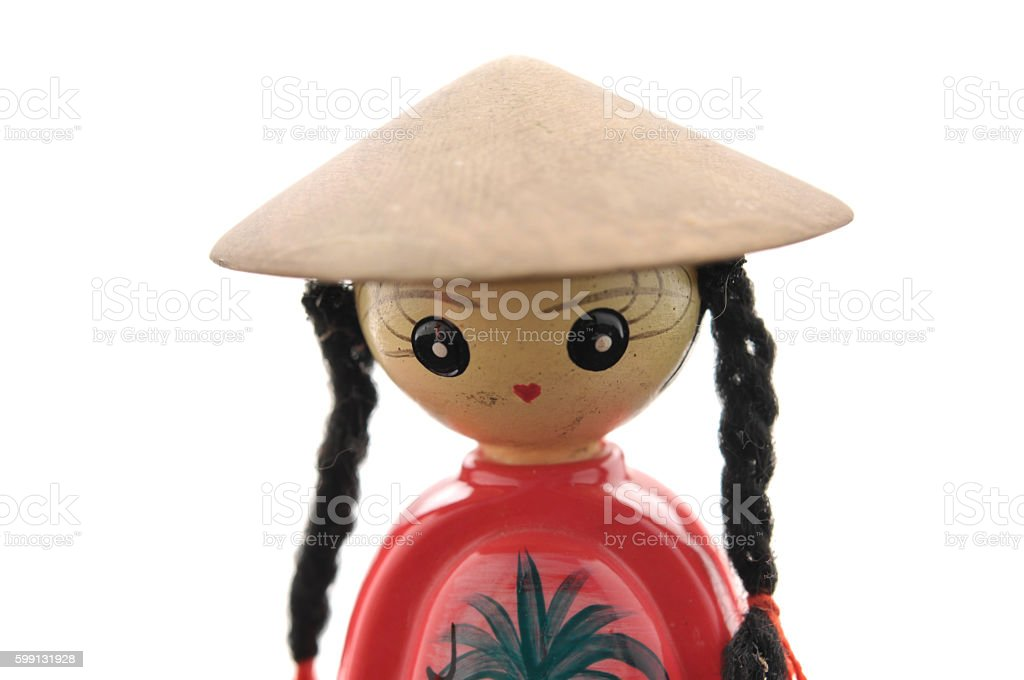Vietnamese doll with dress of vietnam culture stock photo