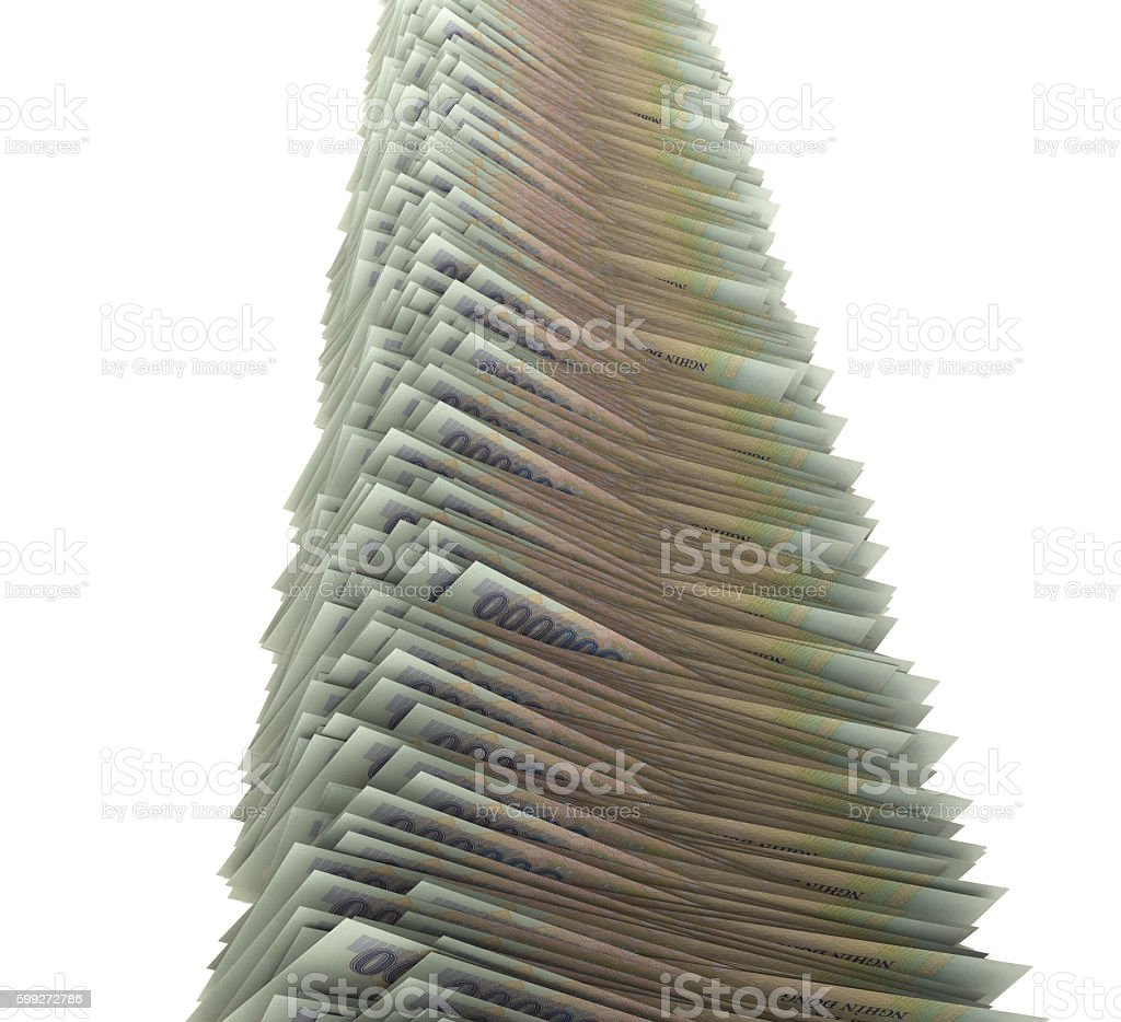 Vietnamese Dong Stack stock photo