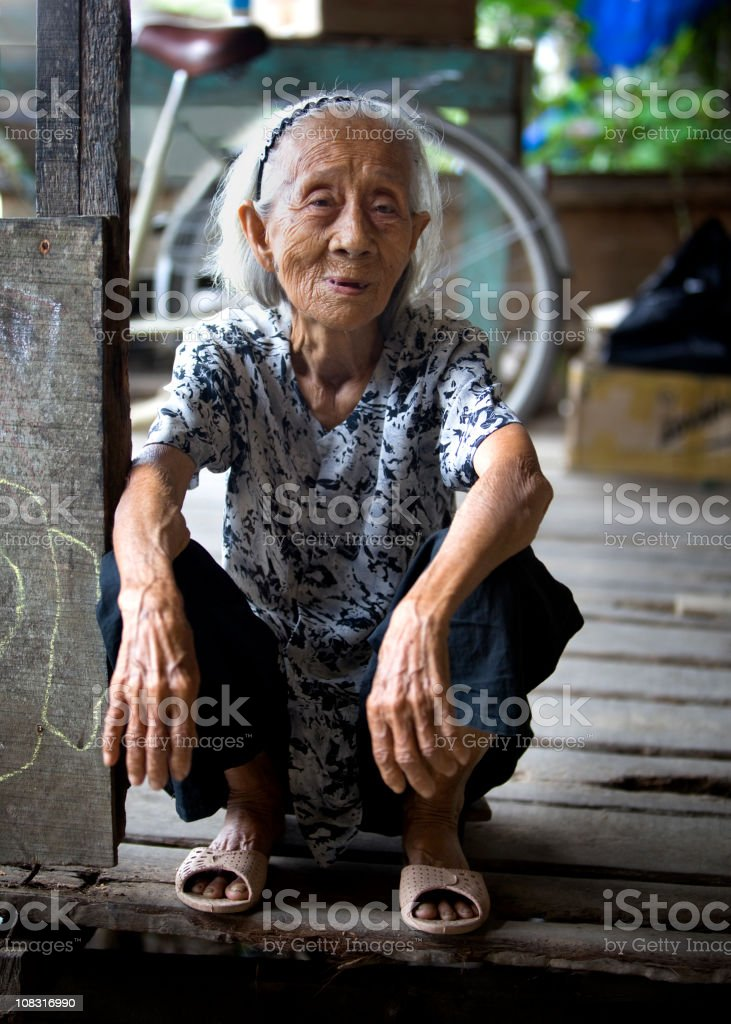 Vietnamese Elderly Woman royalty-free stock photo