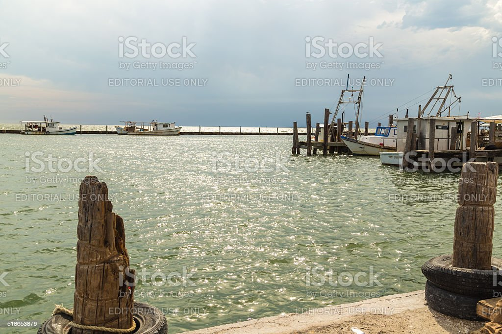 Vietnamese Fishermen on Gulf Coast stock photo