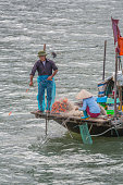 Vietnamese fishing boat on Halong Bay