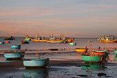Vietnamese fishing boat-baskets