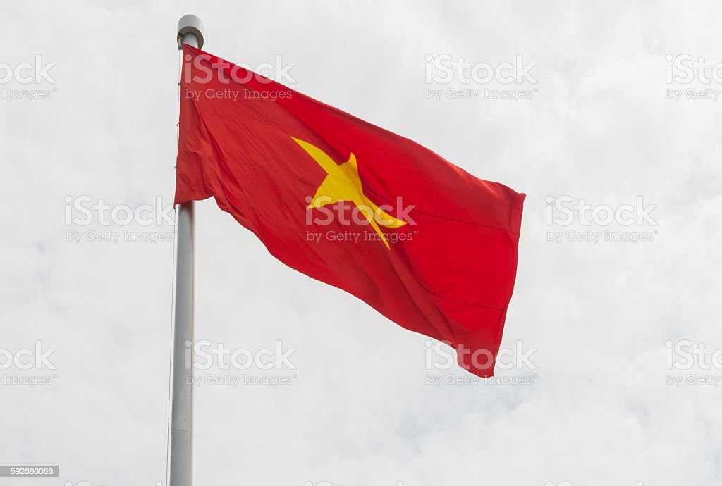 Vietnamese flag stock photo