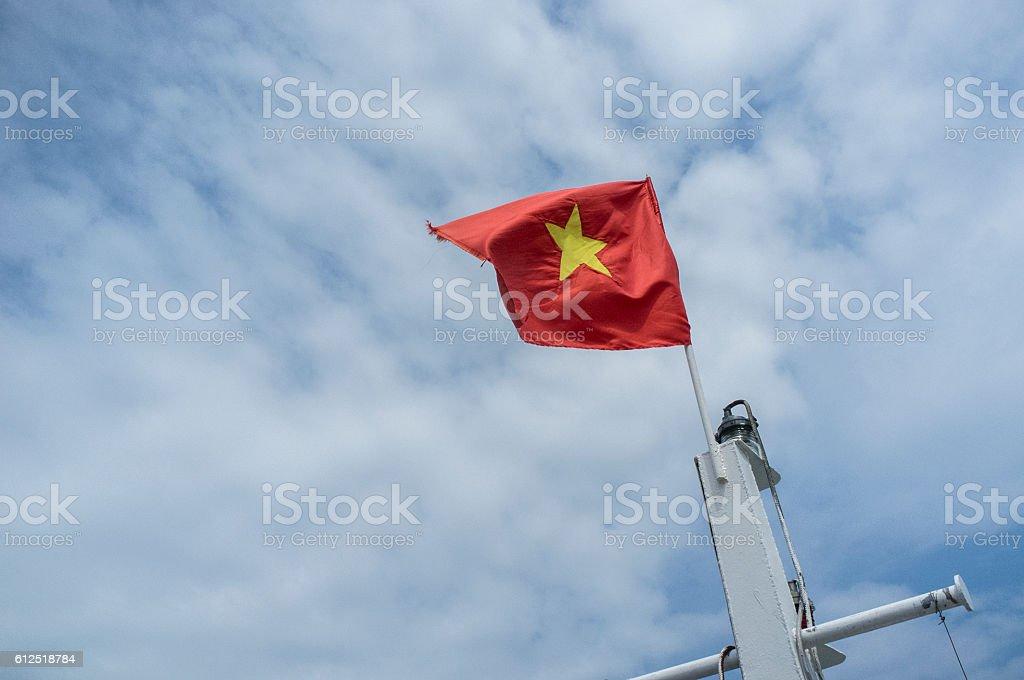 Vietnamese flag royalty-free stock photo