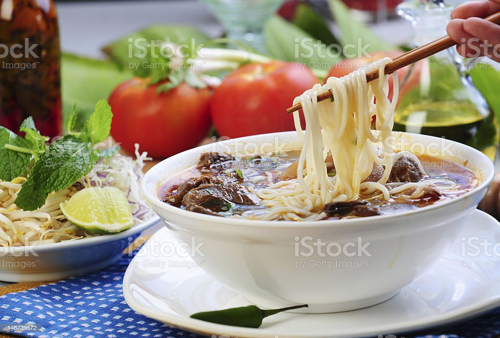 Vietnamese food and decorations royalty-free stock photo