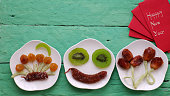 Vietnamese food for Tet, preserved fruit jam