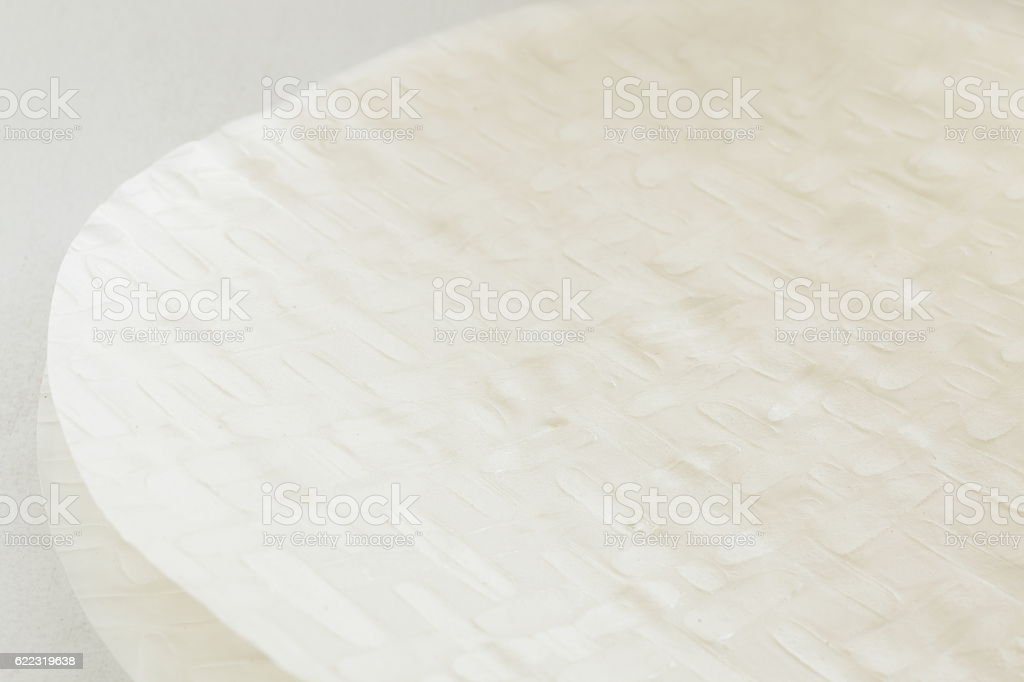 Vietnamese food ingredient, rice paper stock photo