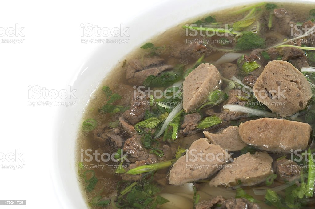 Vietnamese food , Pho rice noodle soup royalty-free stock photo
