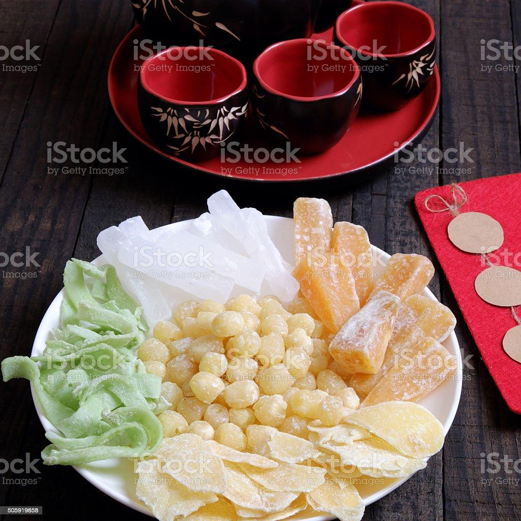 Vietnamese food, Tet, jam, Vietnam lunar new year stock photo