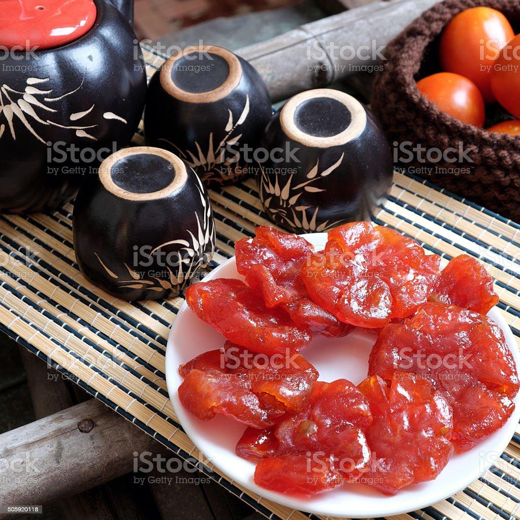 Vietnamese food,Tet, tomato jam, Vietnam traditional stock photo