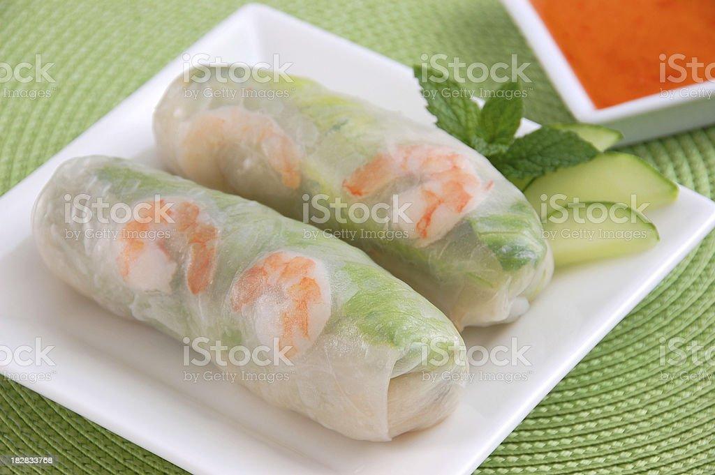 Vietnamese Fresh Spring Rolls stock photo