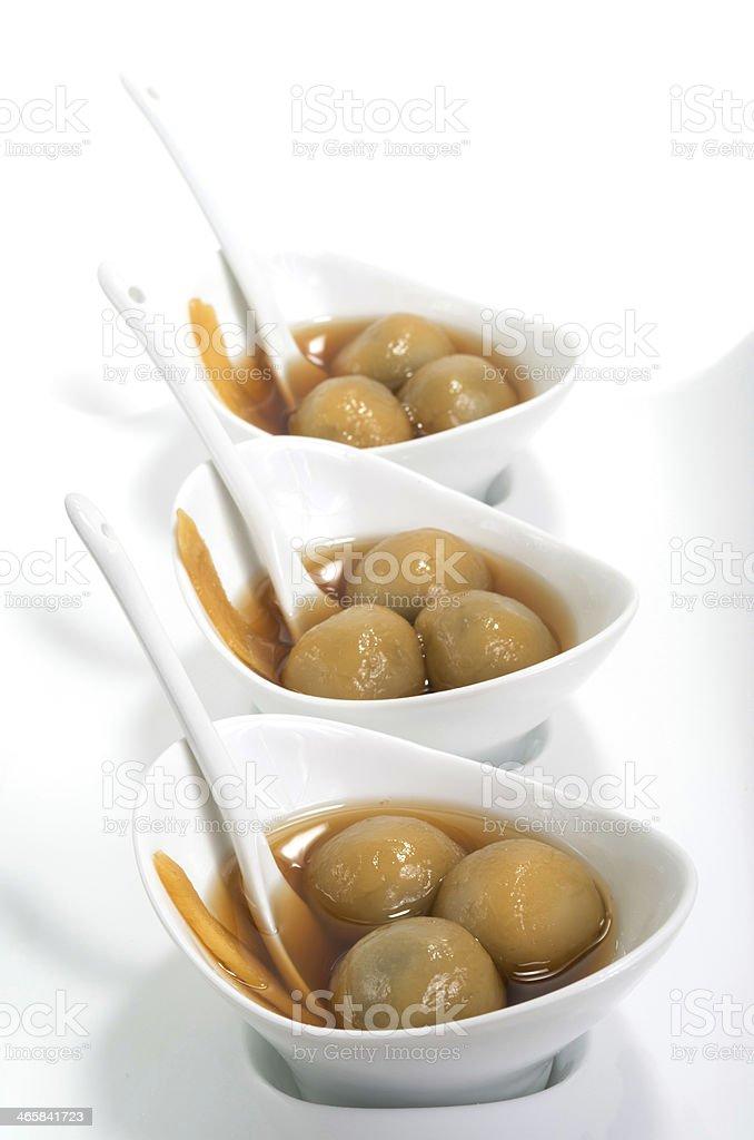 Vietnamese glutinous rice balls dessert stock photo